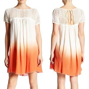 Plenty by Tracy Reese Lace Yoke Ombre Shift Dress